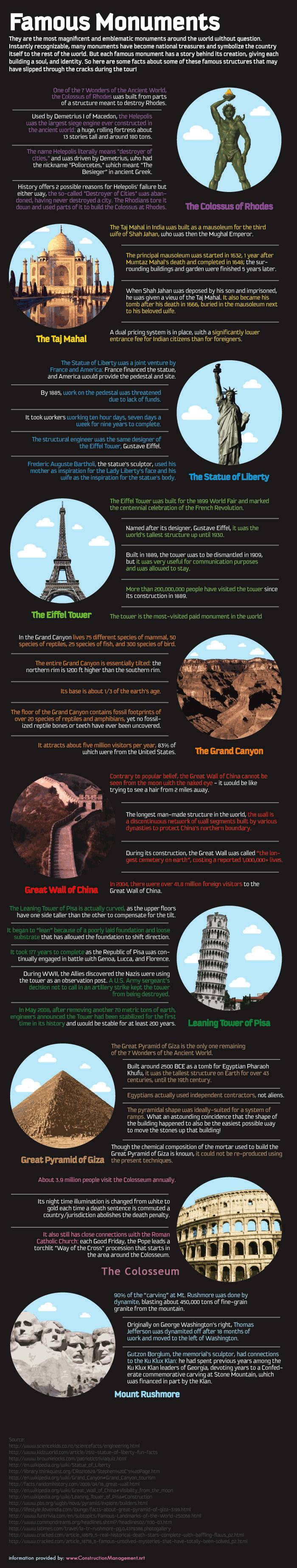 Famous Monuments From Around the World [Infographic]