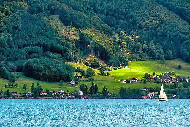 Beautiful Lake Attersee, Austria