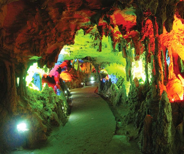 Yellow Dragon Cave in Zhangjiajie, China