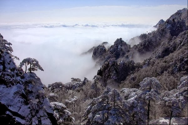Huangshan Mountain after snowfall